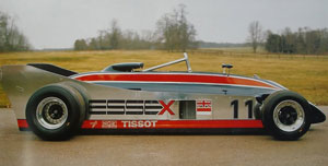 A 'presentation' version of the '88 was a little different to the car that fronted at Long Beach, such as semi-blanked off radiator outlets, twin periscope engine intakes and no front wings - and no tyre branding.