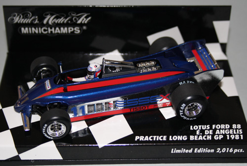 Minichamps 400 810011, 1981 Lotus 88 , de Angelis