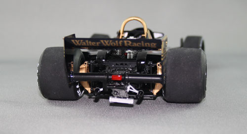 Rear view. 70s F1 was all about big rear tyres!