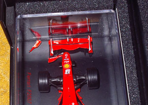 broken wing on the Ferrari