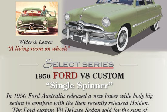 Trax 1950 Ford V8 Custom 'Single Spinner'