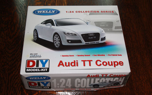 Audi TT Coupe by Welly Diecast, 1:24 scale box art