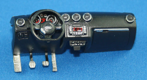 Dashboard/pedals/steering wheel is one-piece, ready to fit