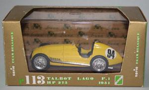 Brumm item R113 – 1951 Talbot Lago T26C Formula One car of Johnny Claes, Team Belgium, #94 German GP