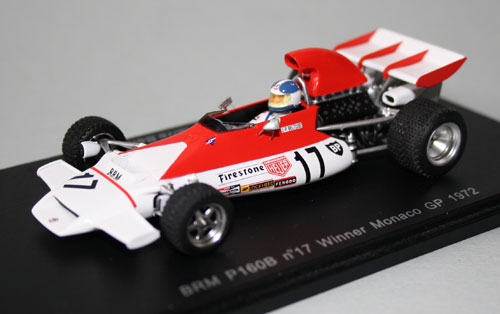 1972 Monaco winner, Jean-Pierre Beltoise's Marlboro-backed BRM P160B, with rain tyres