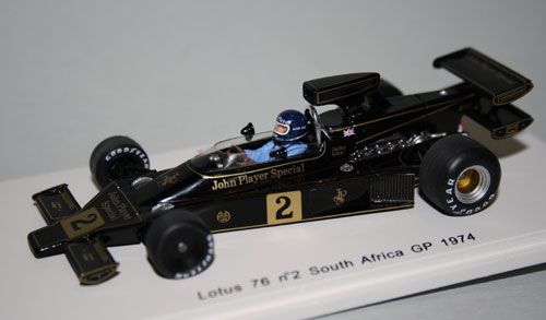 "Early season version of the 1974 Lotus 76 ""John Player Special"" of Jacky Ickx"