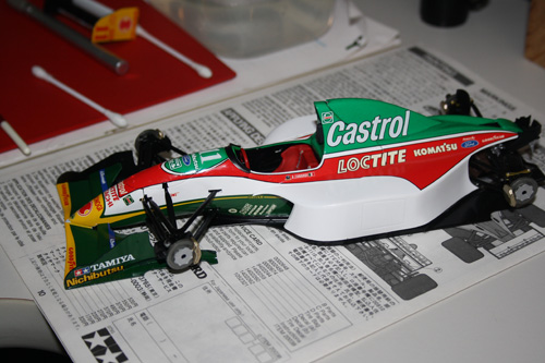 Castrol decal needs to be cut before the engine cover can come off