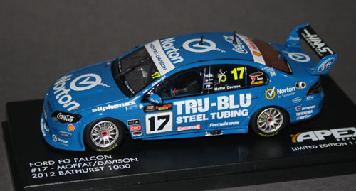 Apex's DJR 'Tru-Blu' Norton tribute car, which only appeared on the Sunday at last year's Bathurst 1000