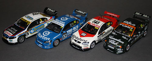 "The two Apex models with their Classics buddies ~ The 2012 Bathurst ""Retro Scheme"" Collection ~"