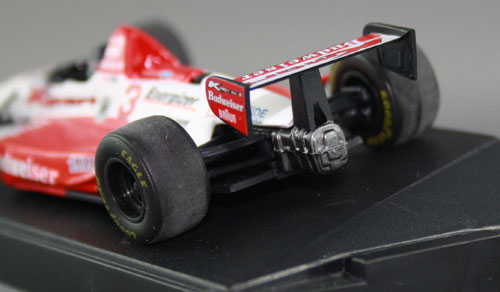 Gearbox gets some metallic paint. Tyre treads are buffed to be more realistic.