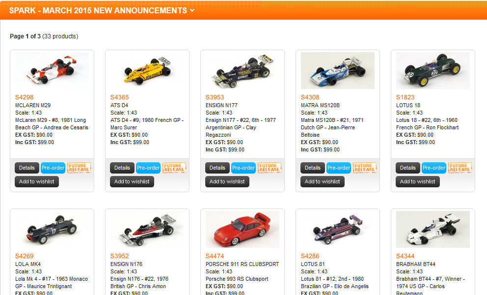 F1 Announcements From Apex – Spark & Minichamps