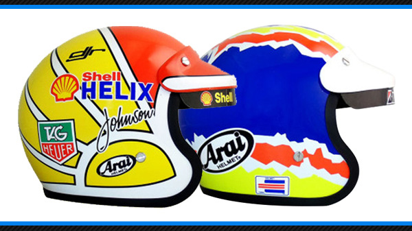 Dick Johnson and Glenn Seton minihelmets by Biante