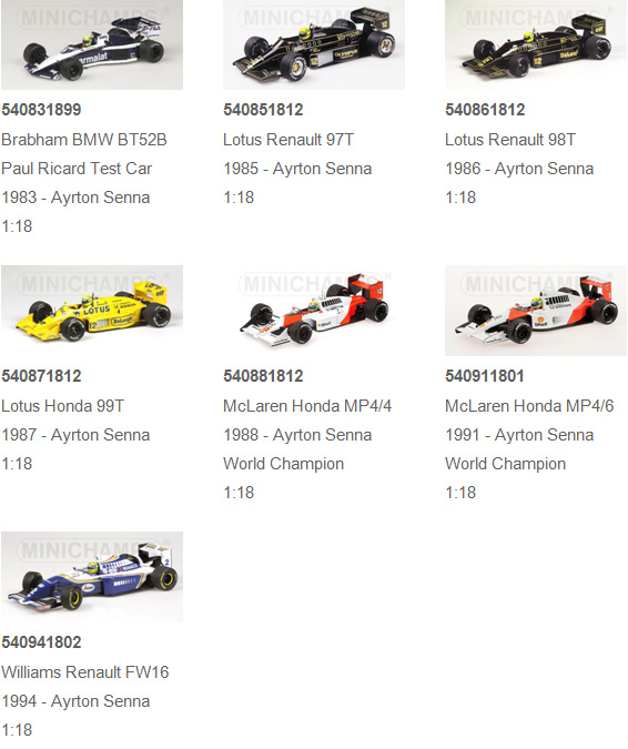 senna collection 1:18