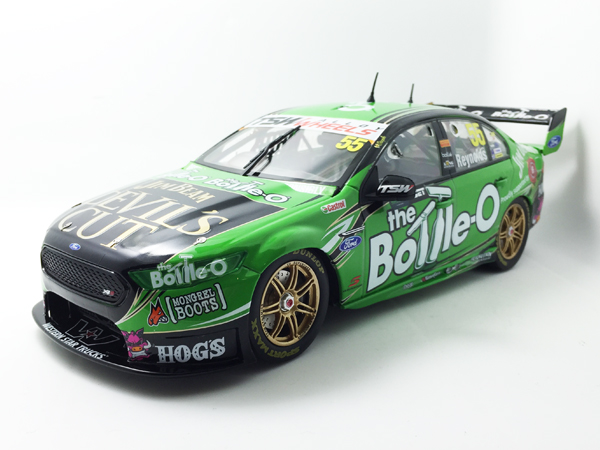 The Bottle-O Racing #55 David Reynolds - Race winner, Darwin. Originally the 2015 Bottle-O model was to be of the FG Falcon, however, after discussions with the team, Apex will move straight across to the FG X that Reynolds drove to victory in Darwin.