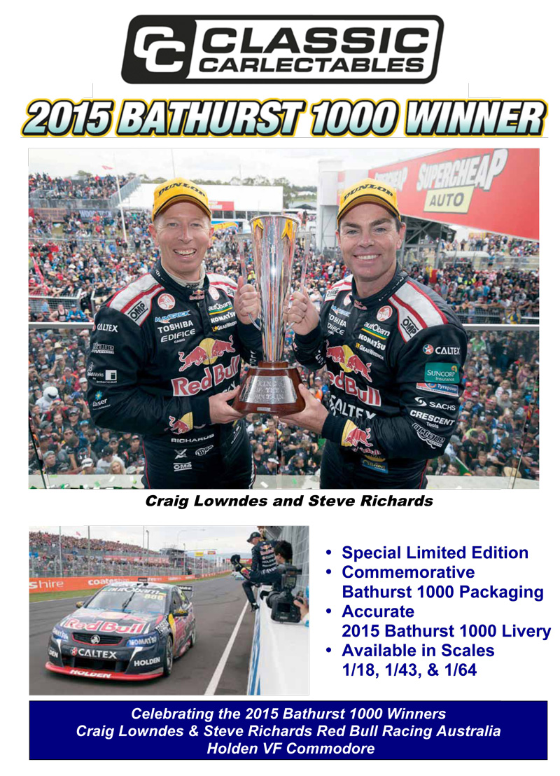 classic carlectables bathurst winner lowndes richards red bull commodore 2015