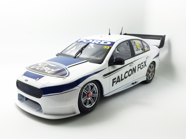 Prodrive Racing Australia - FG X Launch Livery. This model features #5/Winterbottom on the drivers side rear door window, #6/Mostert on the passenger side rear door window, and #55 on the front windscreen to include all three official Prodrive Racing Australia drivers.