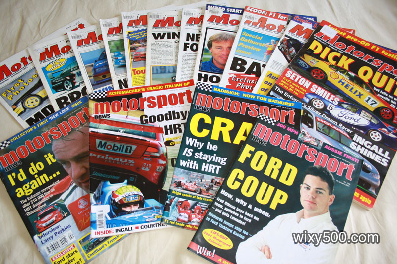 Motorsport News - issues # 6, 12, 14, 17, 18, 19, 21, 44, 84, 86, 147, 183, 188, 191, 196