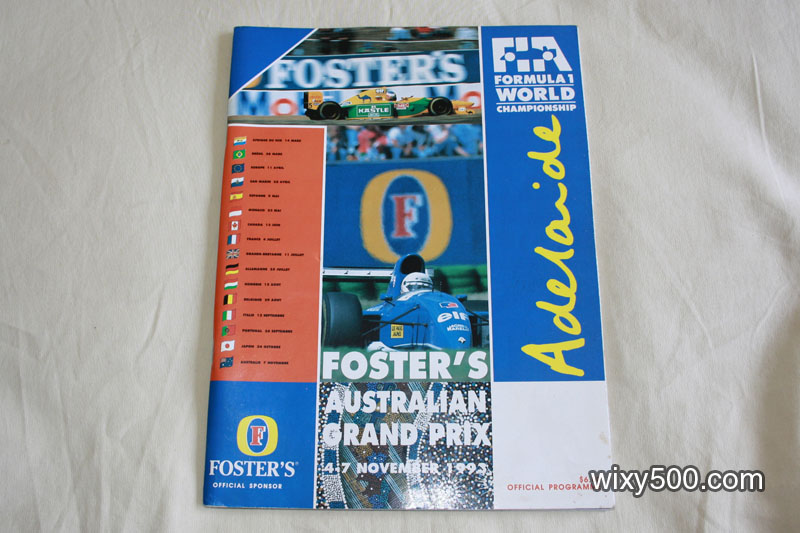 Fosters Australian Grand Prix (Adelaide) official race program 1993