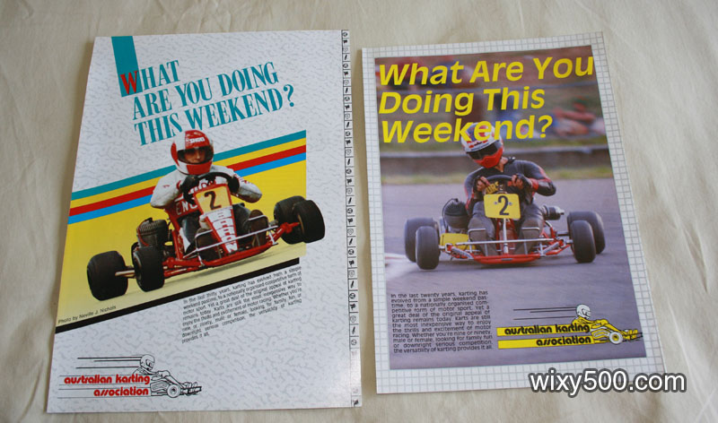 Karting promotional brochures