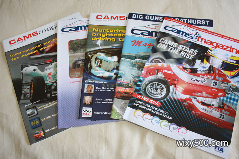 CAMS (Confederation of Australian Motorsport) member magazines