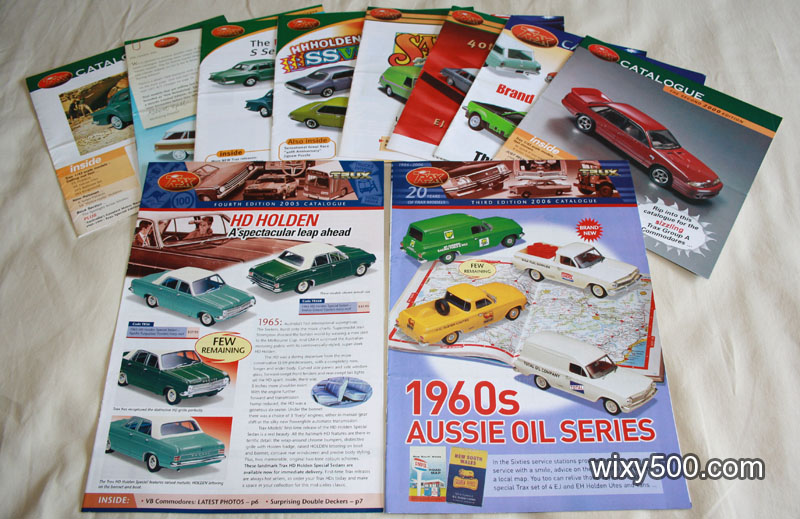 Mixed Trax Australian model car brochures
