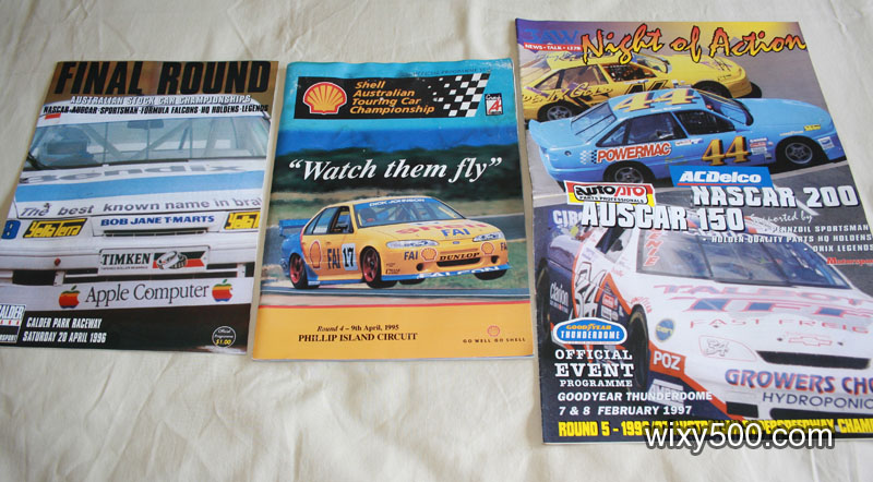 •Race programs – ATCC Phillip Island 1995, Thunderdome 20/4/96, Thunderdome 7-8/2/97