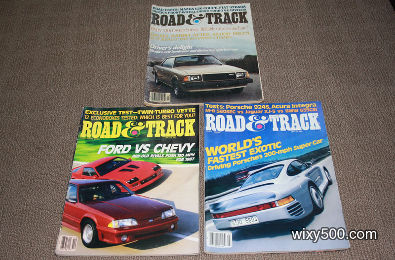 Road & Track - March 1979 (damaged), July 1986, October 1986