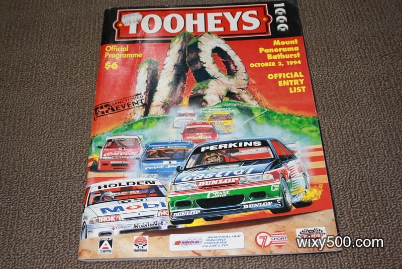 1994 Bathurst Tooheys 1000 official program