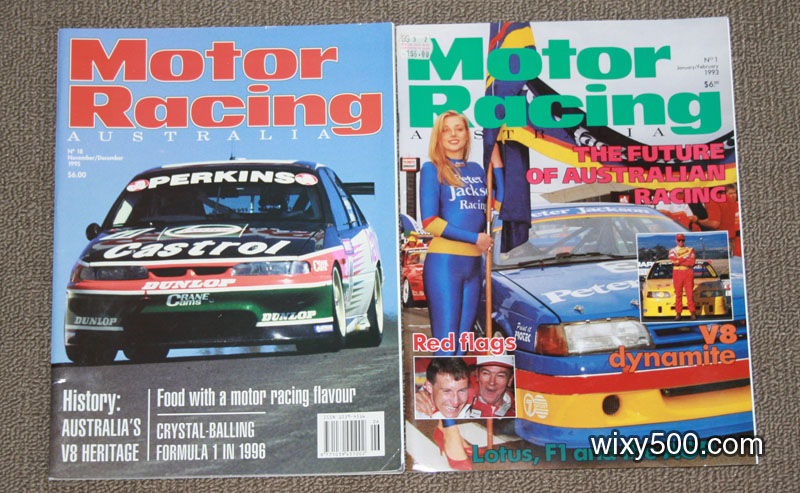 Motor Racing Australia - #1 (Jan/Feb 93) and #18 (Nov/Dec 95)