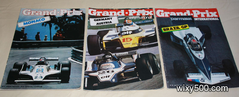 Grand Prix International - #7 (Monaco 1979 – missing pages), #23 (Germany/Austria 1980), #59 (Brazil 1983)