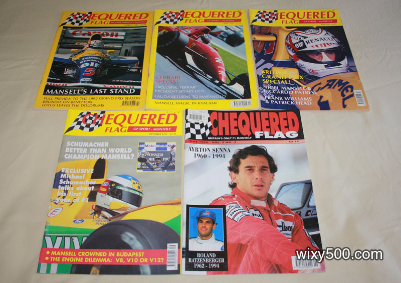 Chequered Flag – March 1992, April 1992, July 1992, September 1992, June 1994 (Senna/Imola issue)