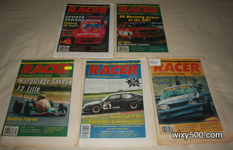 Racer (Motorsport News monthly) – November 1995, December 1995, January 1996, February 1996, March 1996