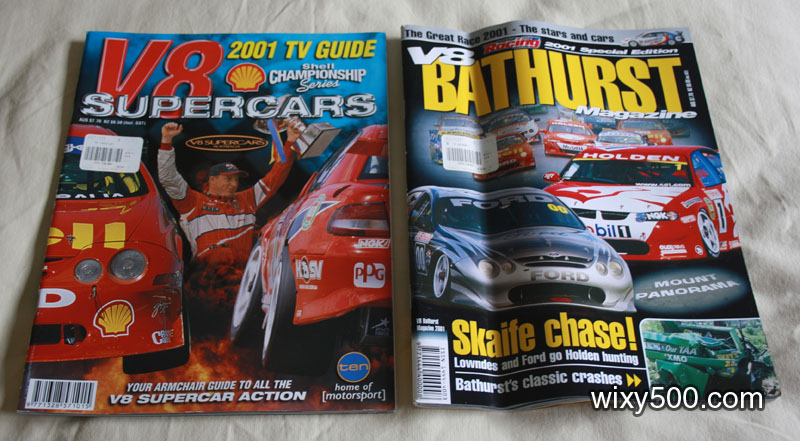 V8 Supercars 2001 TV Guide/preview, V8 Bathurst Magazine 2001