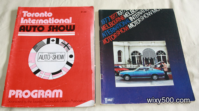 International Motor Show programs - Toronto International Auto Show 1978, Melbourne International Motor Show 1977