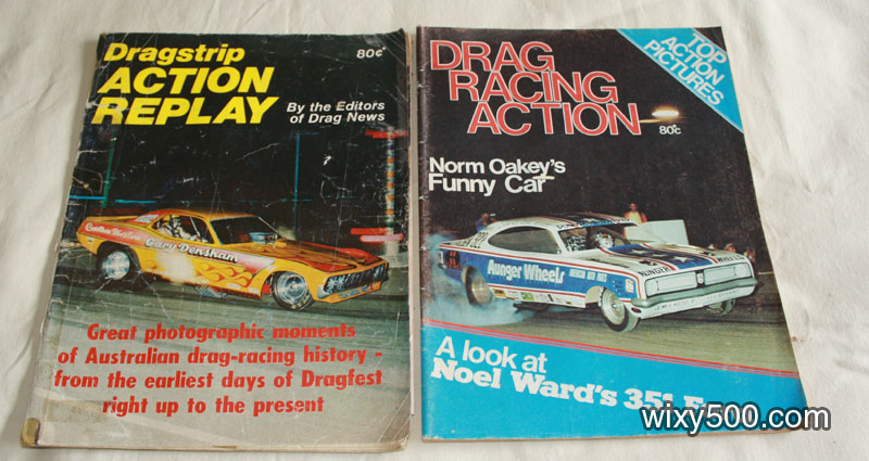 Dragstrip Action Replay (damaged/written in), Drag Racing Action