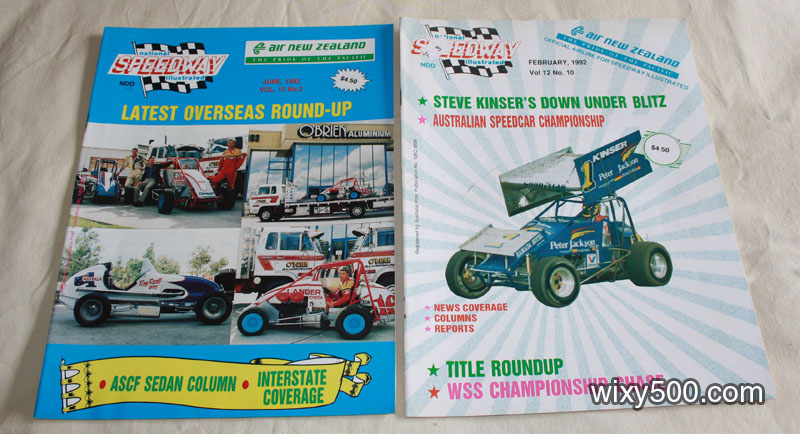 National Speedway Illustrated – February 1992 (Vol 12, No 10), and June 1992 (Vol 13, No 2)