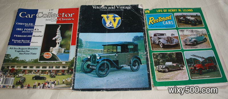 Car Collector & Car Classics – December 1985, Veteran and Vintage – February 1976 (Vol 20, no 6 – damaged cover), Restored Cars – No 15 Mar-Apr 1976 (damaged cover)