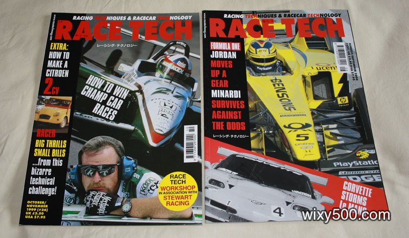 RaceTech #26 (Oct/Nov 1999), #31 (Aug/Sep 2000)