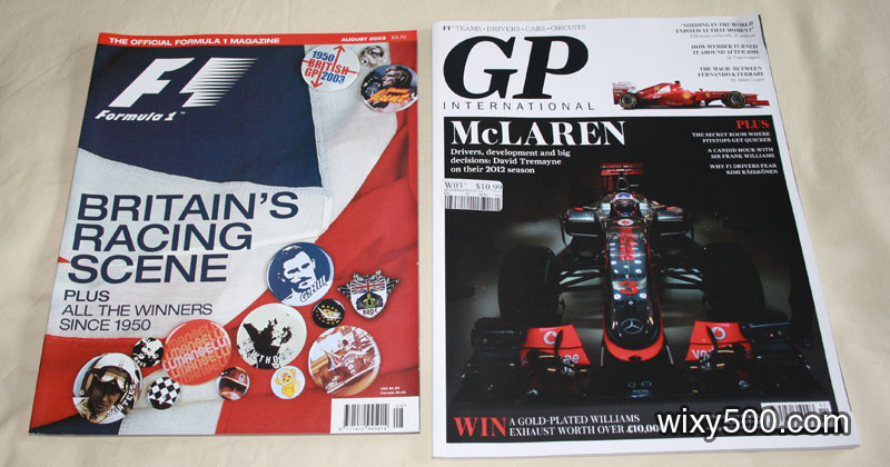 Formula 1 magazine (official F1) – August 2003, GP International – issue #1 Nov 2012