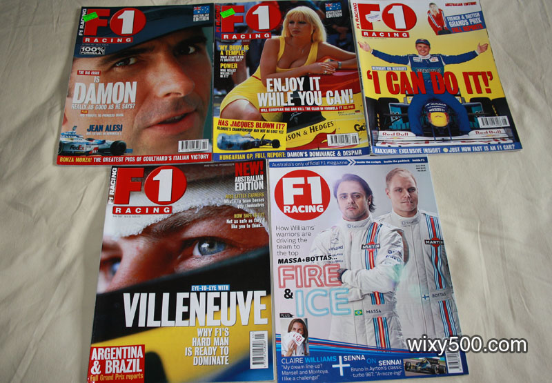 F1 Racing – May 1997, August 1997, September 1997, October 1997, June 2014