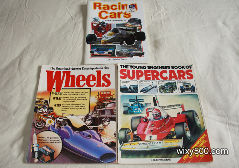 Books for kids: Wheels (Q&A Encylopedia Series), Young engineers Book of Supercars, Racing Cars
