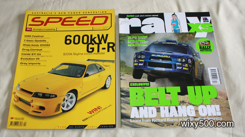Speed – Aug/Sep 2002, Rally XS – Dec01/Jan02