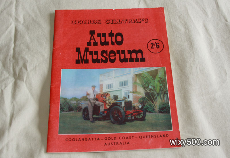 George Gilltrap Auto Museum program/exhibit list