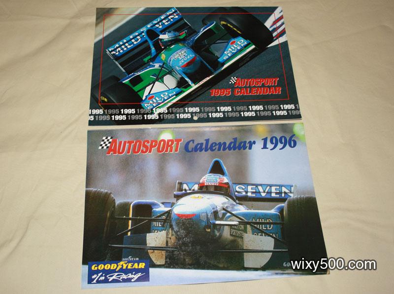 Autosport Calendars - 1995 and 1996