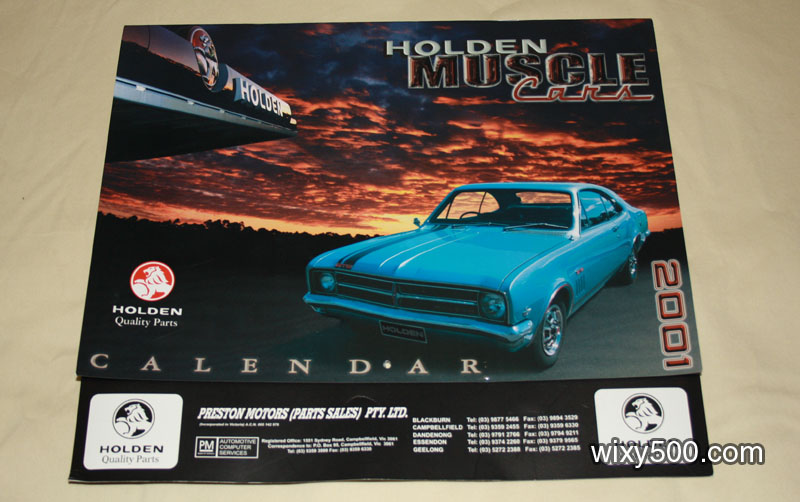 Holden Muscle Car Calendar 2001