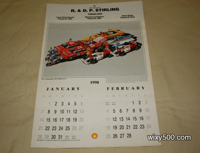 Shell Calendar 1990