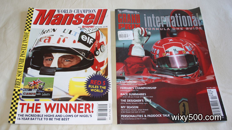 Mansell World Champion (Autosport special), Grand Prix International Formula One Guide – Vol 1 No 1 2001