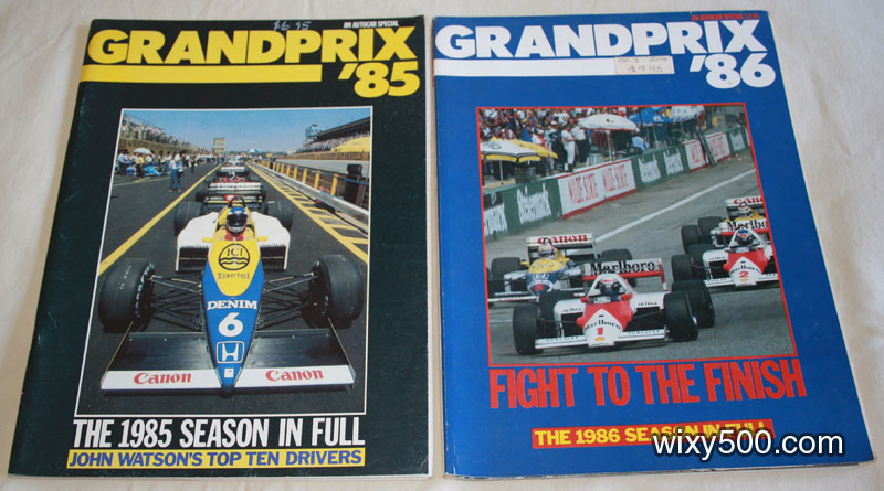 Grand Prix '85 and Grand Prix '86 (Autosport publications)