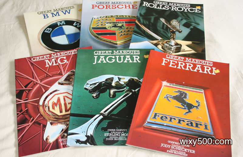 Great Marques books - BMW, Porsche, Rolls Royce, MG, Jaguar, Ferrari