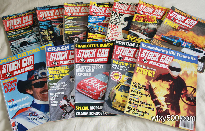 Stock Car Racing - mixed issues from 1976 to 1992